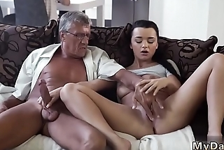 Old man young girl first time What would you choose - computer or