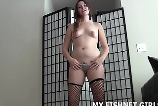 Stroke your cock to me in my sexy new fishnets JOI