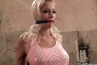 Bound euro beauty teased overwrought her master