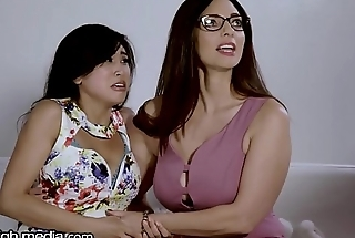 Big-busted Lesbian MILF Helps Young Asian Conquer Fears!