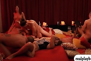 Group of swingers swap partners and orgy
