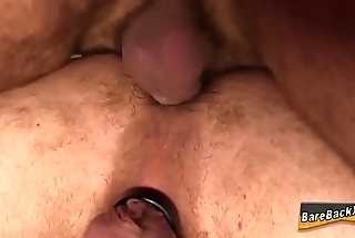 Towards the rear fucking bear creampie
