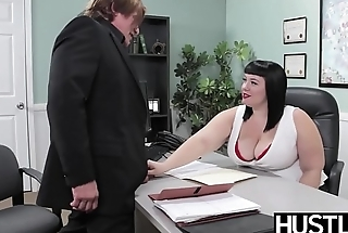 Angelic BBW Alexxis Allure fed cum after big horseshit hammering