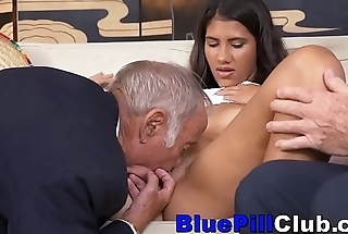 Dirty Latin Teenage Slut Fucks Very Age-old Men