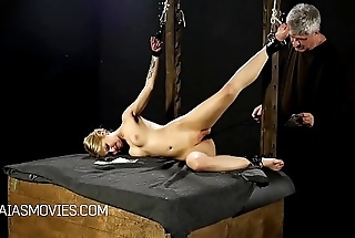 Little blonde girls pussy spanked