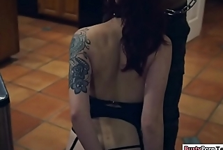 Amber chained together with then gets pounded hard