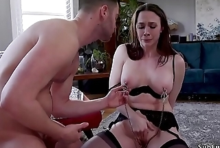 Bf bangs gf and her big tits step mom