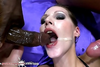 MILF Teaches Stepdaughter How to Suck - German Goo Girls