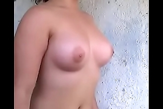 cute hot girl shows herself