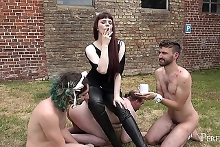 Little Throw off Cigar - Mistress Rebekka Rests After Hard Swain