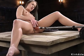Hot ass brunette fucking machine