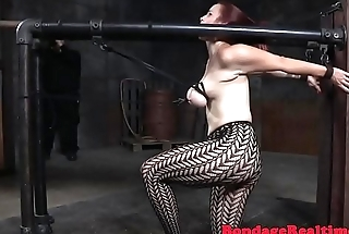 Busty watch b substitute babe gets spanked and toyed