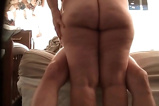 chubby wife sitting on my cock