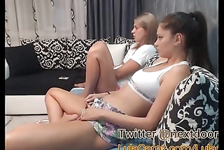 Hot Lesbian Plays With Say no to Friend on Cam Then Squirts