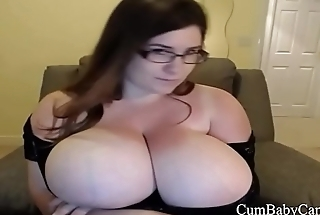 BBW Hulking Tits Plays With Pink Pussy - CumBabyCam.com