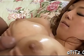 Big hooters japanese babe enjoys naughty 3some sex