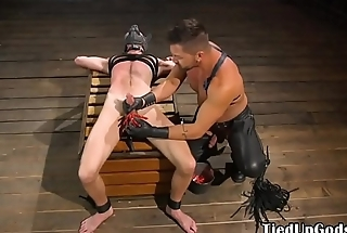 Caged duteous sub gets load of shit tormented