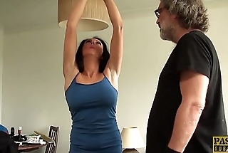 Self-conscious MILF Jess Scotland dominated and roughly fucked