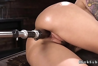 Huge tits alt babe rides Sybian