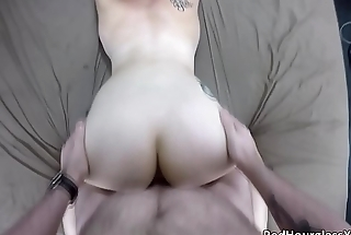 Cute short-haired punk slut Lily likes to get her ass fucked