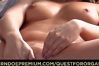 QUEST FOR ORGASM - Sex toy dissimulate leads to orgasm for seductive Czech blondie Kattie Hill