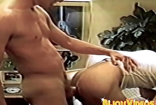Retro homos butt fuck increased by jerk each other off with pleasure