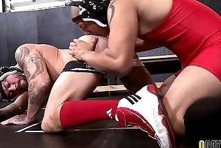 Gay wrestlers having fun