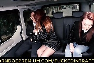 FUCKED IN TRAFFIC - Big tits redhead pricey Isabella Lui fucks driver