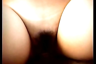 Blonde babe with natural hairy cunt takes a cock