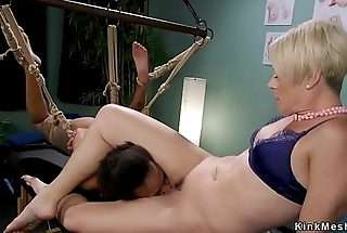 Ebony patient fixed spanked and anal banged