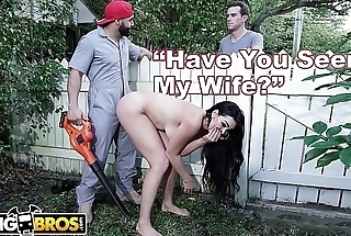 BANGBROS - Big Tits MILF Skyla Novea Cheats Overhead Husband With The Gardener