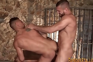 Ripped studs fuck with an increment of tug