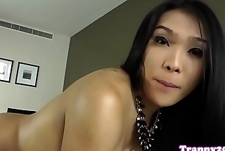 Sensual ladyboy wanking stay away from until climax
