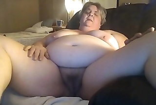 Chunky Granny Masturbating Of Her Younger Date