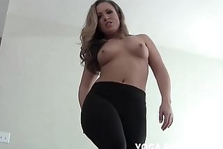 Stroke your dick to me close by my yoga pants JOI