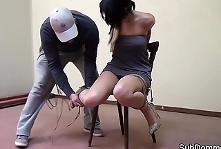 Restrained beauty NT punished by old hand
