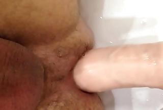 Huge Dildo Deep with the addition of Painful Anal Insertion