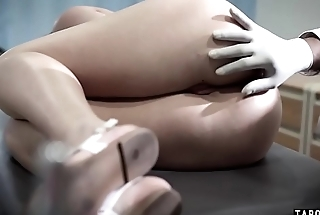 Teen patient examined and anal fucked by a BBC doctor