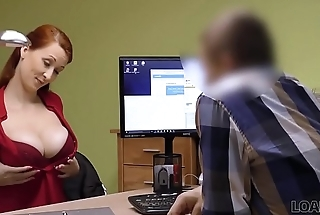 LOAN4K. Vehicle in credit company loves boobs of his gorgeous customer