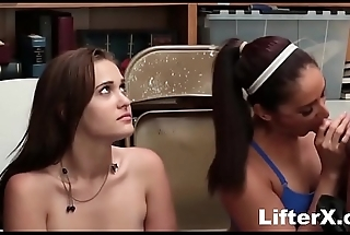 Mom &amp_ Daughter Caught &amp_ Fucked For Stealing- LifterX.com