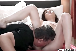 Fat old guy fucks a young chick Linda Love